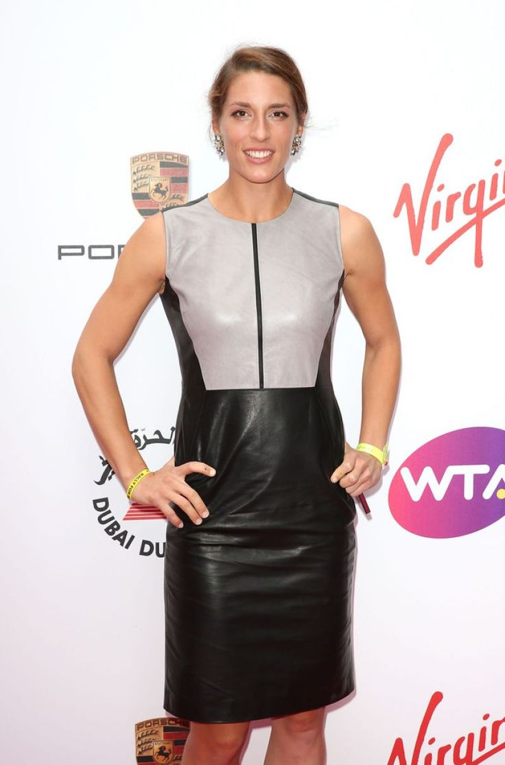 Andrea Petkovic in Leather Dress - WTA Pre-Wimbledon 2015 Party in London-1