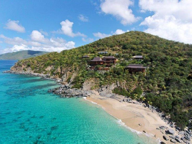 This is what front yards look like in Katsura, Virgin Gorda, British Virgin Islands.