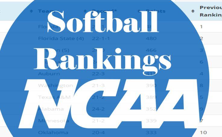 NCAA Softball Rankings March 14, 2017 | | Softball Home