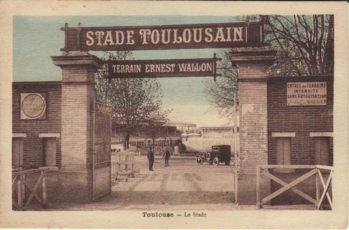 Stade Ernest Wallon, vintage postcard, 1920's.Stade Toulousain