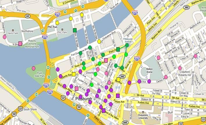 City map Pittsburgh Pennsylvania PDF