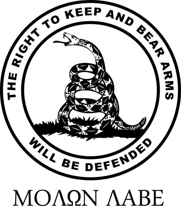 """MOLON LABE"" = ""COME AND TAKE IT!"" -- Go ahead - TRY!"