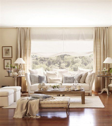 11 best images about cortinas y visillos p pinterest - Salones con cortinas ...