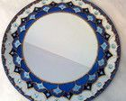 Mandala Azul em espelho redondo de 40cm