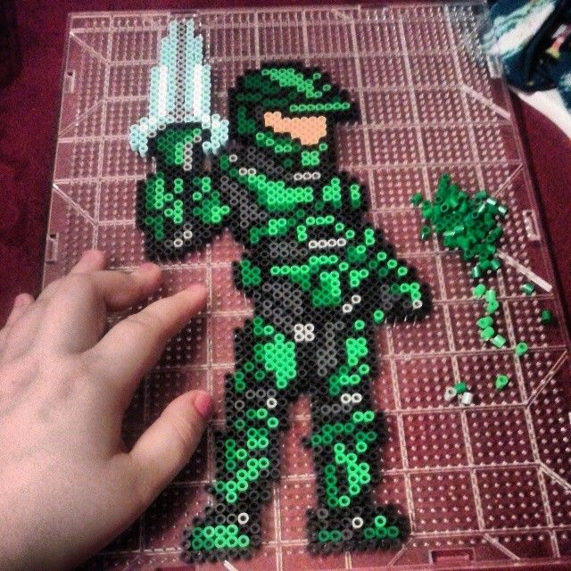 halo hama perler beads by michelle