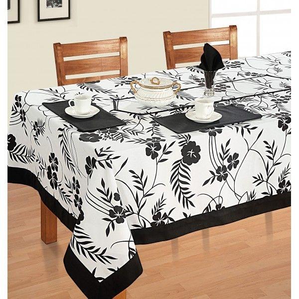 Hibiscus Printed Rectangular Table Linen-5313