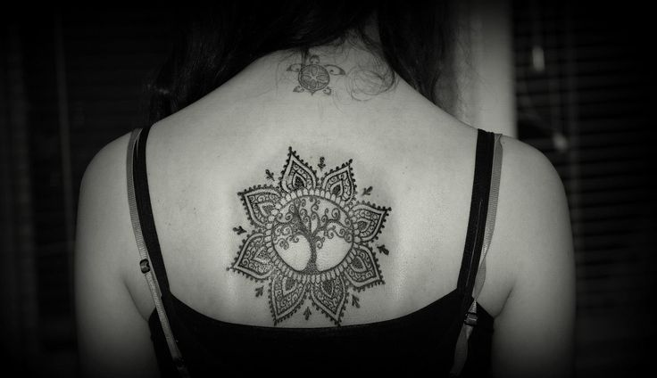 Mandala with tree tattoo by Mada... https://www.facebook.com/pages/BAStattoo-GALLERYart-caffe/124021327663799?fref=ts