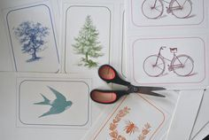 Super cute + free! Postcards with vintage illustrations.
