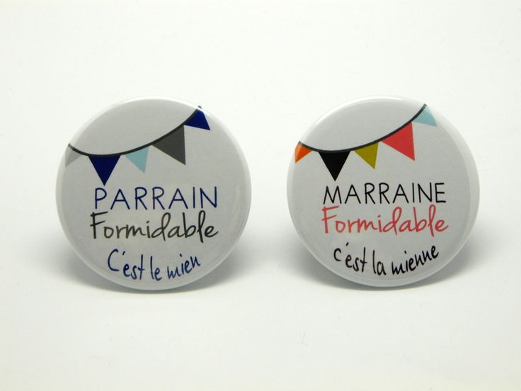 Miroir + Décapsuleur Aimanté personnalisables PARRAIN MARRAINE formidable - Lot de 2 Magnets 56mm - Fanions