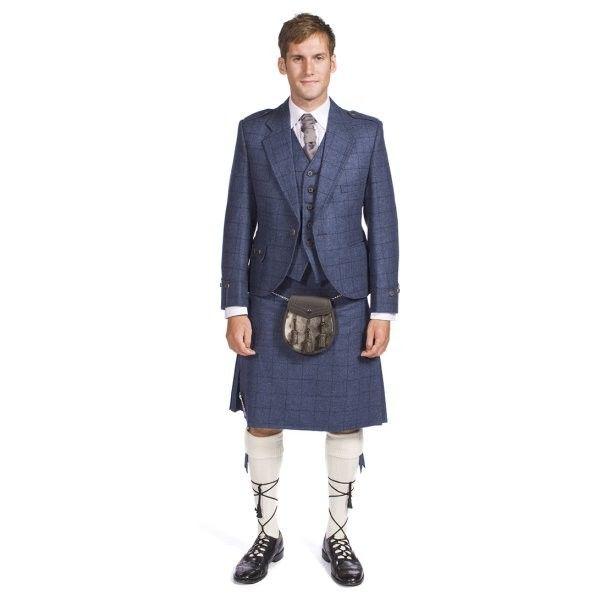Complete Prestige Tweed Argyle Jacket and Kilt Outfit Hand Made to Order | Kilt Shop | Tweed Jacket Kilt Outfit