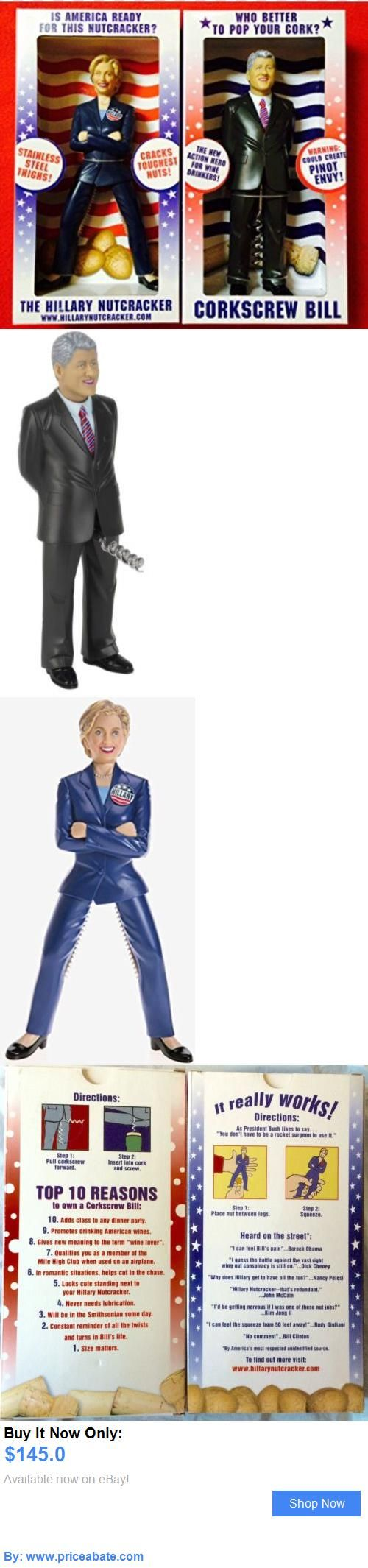 Hillary Clinton: Bill And Hillary Clinton Corkscrew And Nutcracker (Csb Comm..,2008) New BUY IT NOW ONLY: $145.0 #priceabateHillaryClinton OR #priceabate