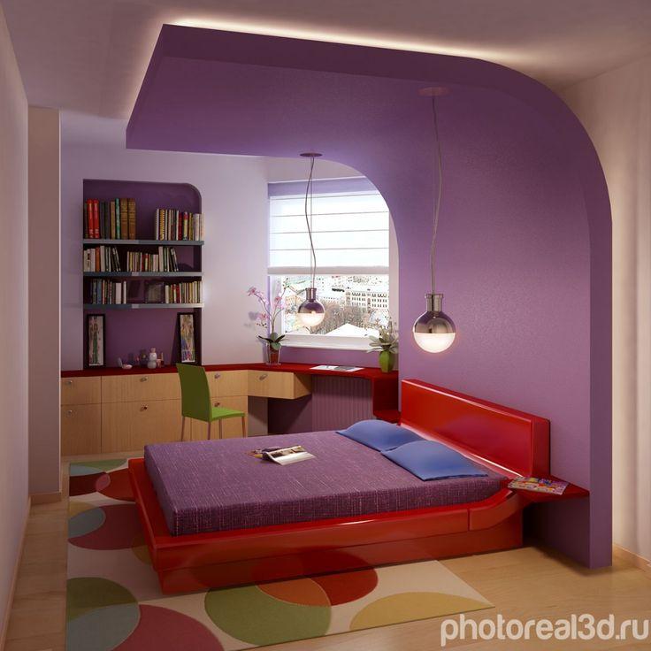 Визуализация интерьера спальни \ спальной комнаты