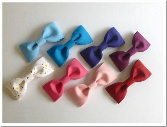Fabric bows: Hairbows, Diy Hair, Bows Ties, Fabric Bows, Fabrics Bows Tutorials, Hair Bows, Classic Fabrics, Bows Diy, Make Bows