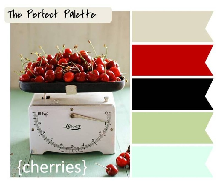 {Cherries}: Gray, Red, Black, Green + Aqua ☛  http://su.pr/15oMsb