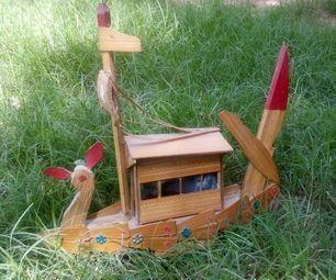 Barco Artificial Artesanato de madeira compensada