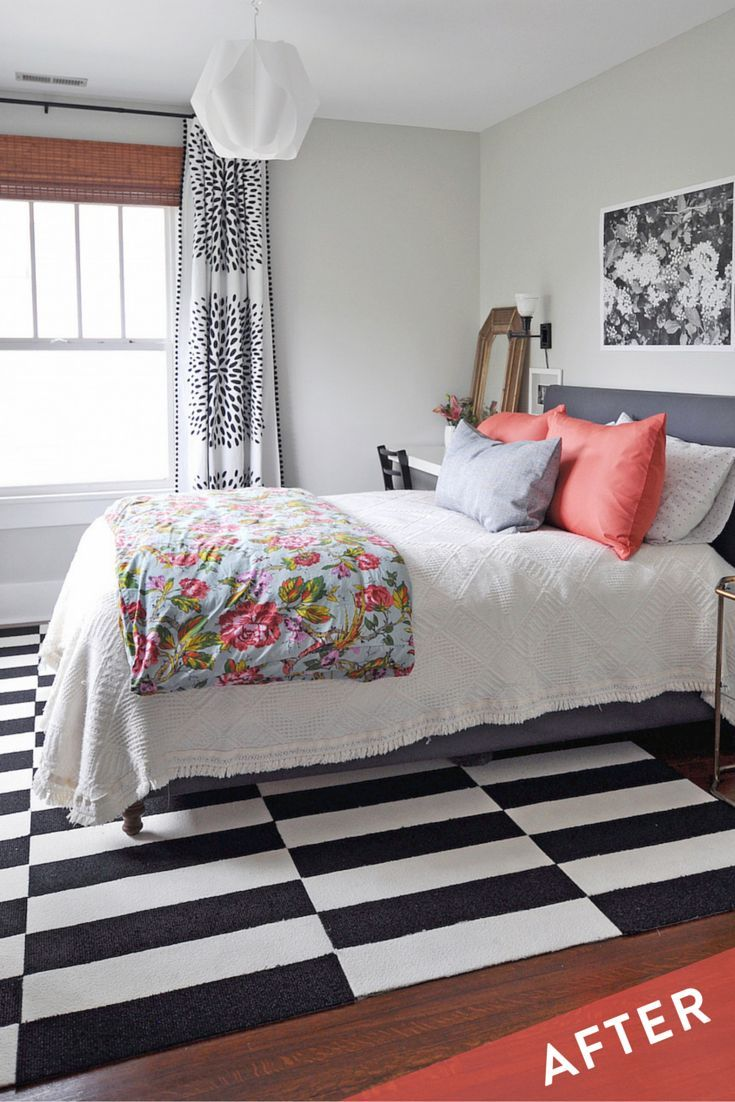 104 best bedroom dreams images on pinterest master bedroom layered patterns and colors play together nicely in this former children s room turned guest bedroom via