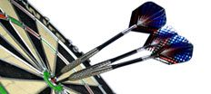Like throwing sharp objects into the wall?  We have new darts and dartboards arriving all the time!