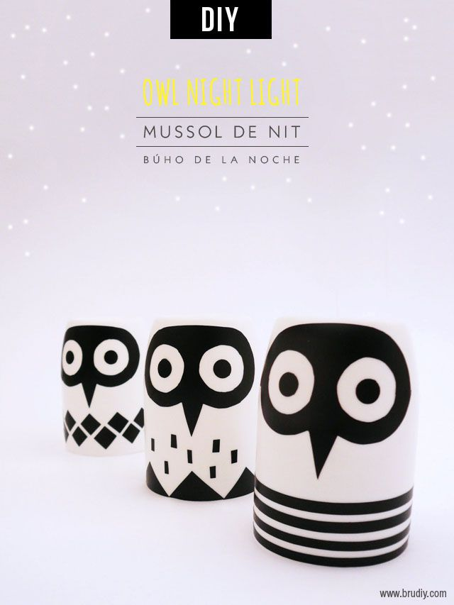 Owl Night Light / Mussol de Nit / Búho de la Noche #DIY #handmade #brudiy #owl #light #night #kids #candle #recyling #plastic #bottle #reciclar #craft #lechuza #mussol