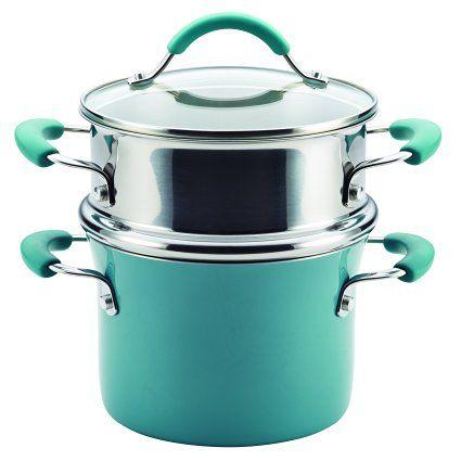 Rachael Ray Cucina Hard Porcelain Enamel Nonstick Multi-Pot / Steamer Set…$39.99