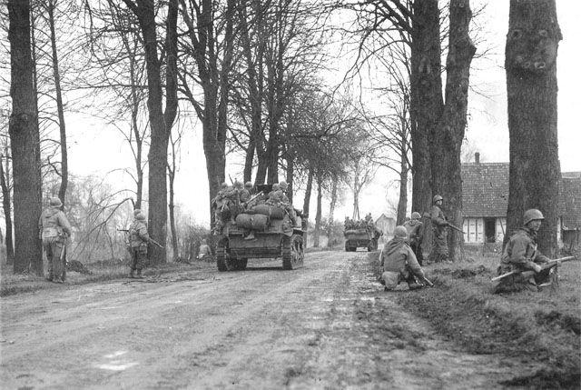 313th Regiment, 79th Division near Birschwiller. December 1944