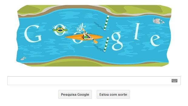 Canoagem slalom ganha Doodle interativo em homenagem às Olimpíadas de Londres