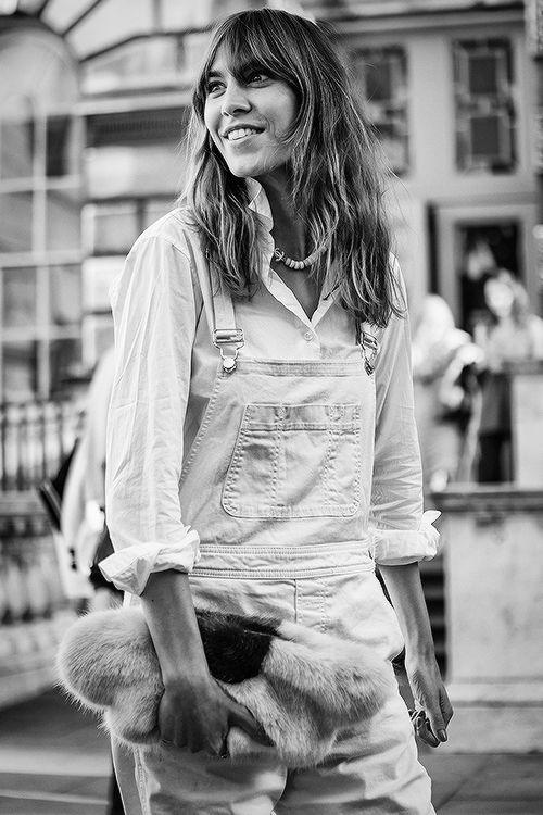Alexa Chung @LFW on September 12, 2014 in London, England. (Photography)