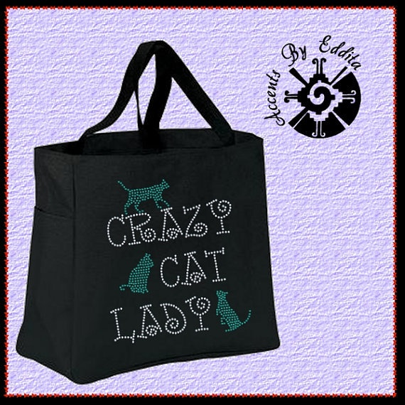 Crazy Cat Lady Rhinestone Tote Bag (your choice of color) with 3 cute Kittens Great for ALL Cat Lovers: Water Bottle, Sturdi Rhinestones, Totes Bags, Hunger Games, Keep Calm, Great Gifts, Rhinestones Totes, Tote Bags, The Originals