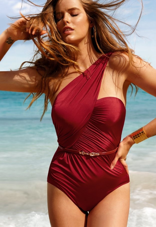 Giunco, grphic one piece bathing suit- Calzedonia 2012 beachwear colection