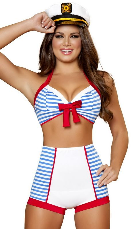 Dashing Pinup Sailor Sexy 3 Piece Costume Halloween