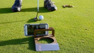 Wood Golfer Digicam Holders  The Puttskee 'PuttCAM' Smartphone Mounts Report Golf Video games (hotnewstrend)