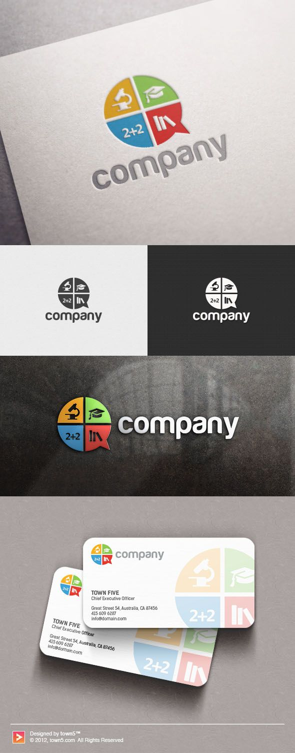 STUDY TALK EDUCATION LOGO Choose a logo you love and we'll add your business name within 24 hours! Perfect for these industries: Children & Childcare, Community, Games & Recreation, Education