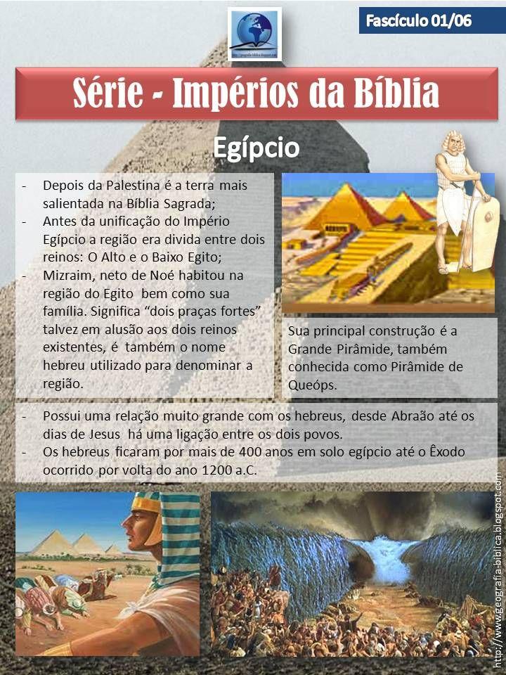 Serão seis postagens referente aos impérios do tempo bíblico:   Egípcio;  Assírio;  Babilônico;  Medo-Persa;  Grego;  Romano.   O form...