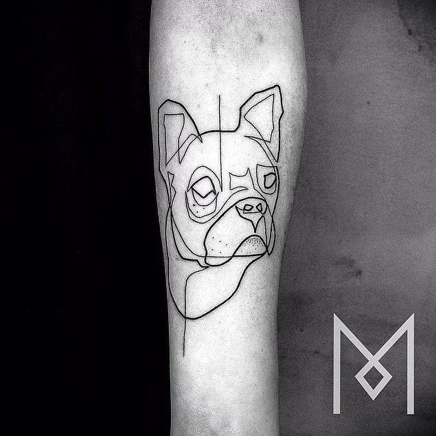 """30 Çalışmasıyla Tek Bir Çizgi Üzerinde Harika Dövmeler Yapan Sanatçı """"Mo Ganji"""""""