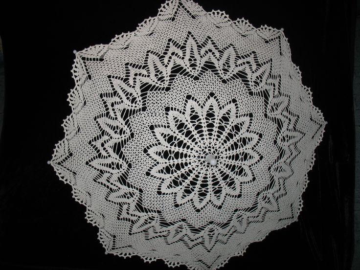 Белый кружевной зонтик