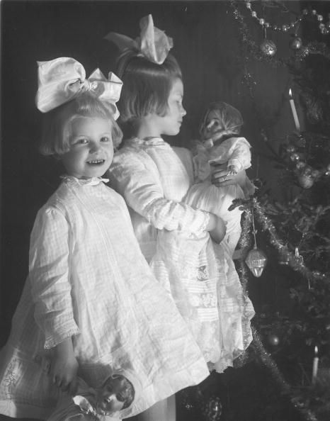 dolly time! newly unwrapped christmas presents, cincinnati, 1930s