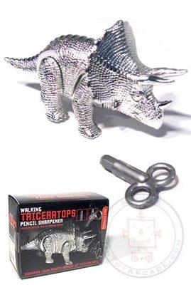 Kikkerland Walking Triceratops Dinosaur Pencil Sharpener NEW!!