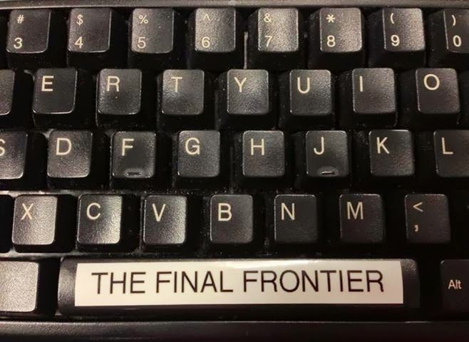 "Hahahaha. Space: "" The final frontier These are the voyages of the starship Enterprise. Its five-year mission to explore strange new worlds, to seek out new life and new civilizations, to go boldly  where no man has gone before."""