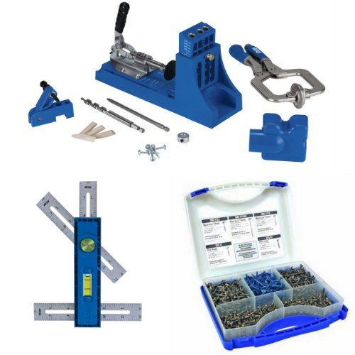 K4MS+KMA2900+SK03 - Kreg K4MS Kreg Jig Master System + Kreg Multi-Mark + 675 Screws