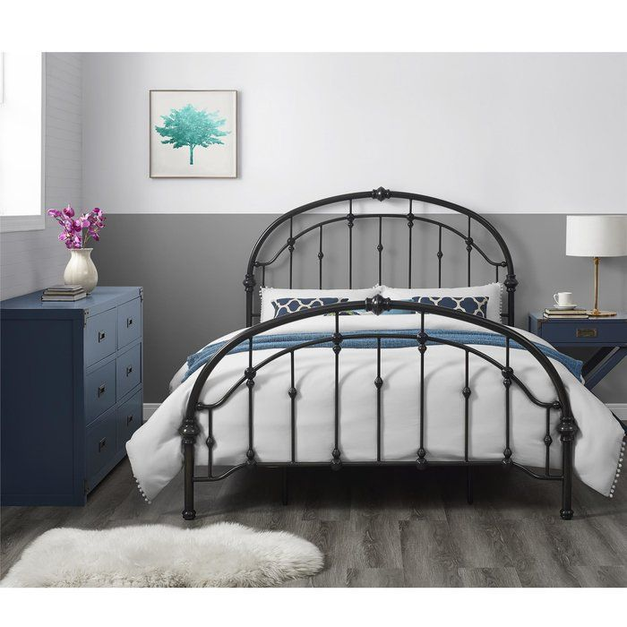 Alcott Hill Mccully Queen Standard Bed Metal Beds Antique Iron