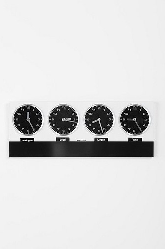 Time Zone Clock. Found @ UrbanOutfitters