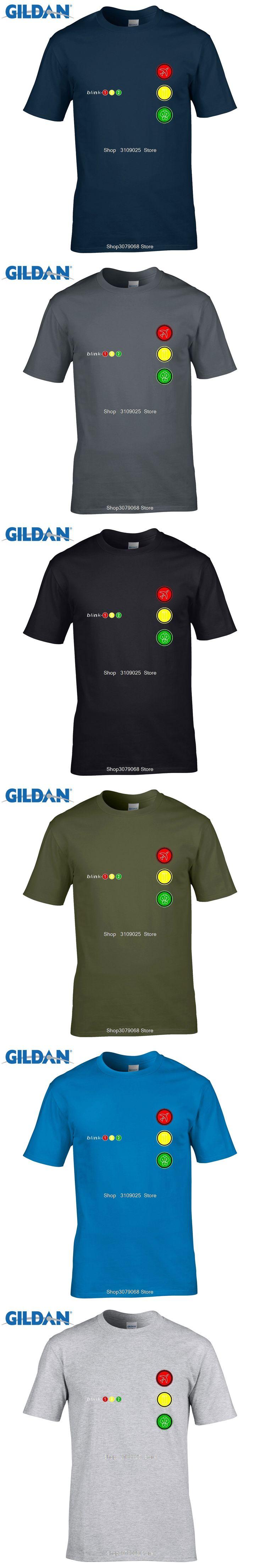 GILDAN customised t-shirts  Rock Tee Shirts Blink 182 T-shirt Youths Oversize Short Sleeved Top Tees Men Big Size