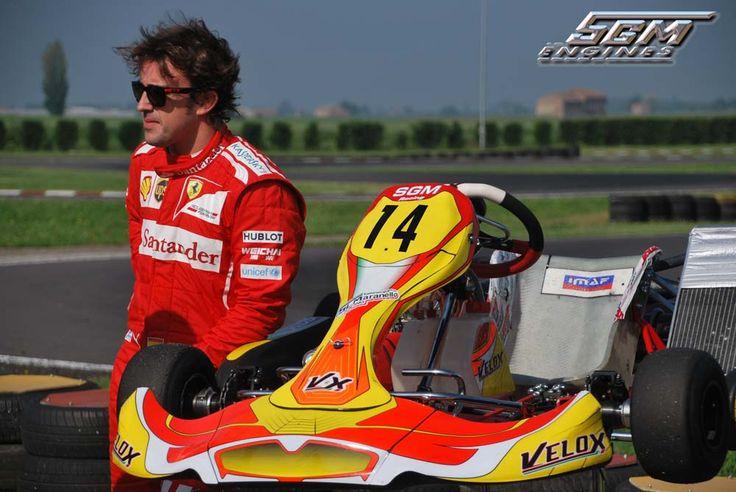 Fernando Alonso e kart