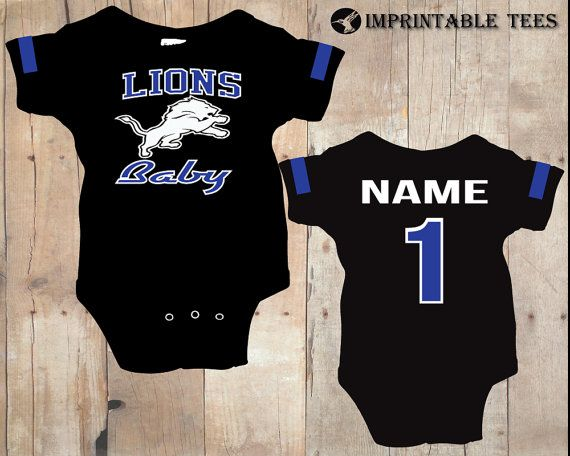 Football Detroit Lions Bodysuit on Etsy, $20.00