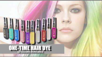 10 colores Colores de la Reina Del Partido Cosplay de La Manera Temporal Vibrante Brillo Instantáneo Destacados Pelo Rayas Color Mascara Crema Colorante