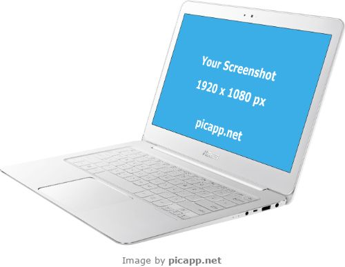 A variety of device frames, including Asus, can be found on PicApp.net and are ready for your screenshots! Put your screenshot inside any frame with just a couple of clicks and download the image to your PC. It's quick and free! #nobackground  #mock #asusZenbookUX305 #asus #white