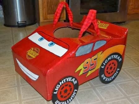 DIY Lightning McQueen Halloween Costume by Because I Said So (and Other Mommyisms)