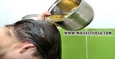 chás para o cabelo crescer