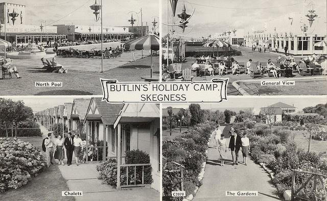 Butlins Skegness 1950s multiview postcard by trainsandstuff, via Flickr
