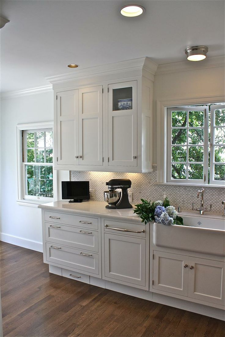 2833 best future kitchen ideas images on pinterest kitchen ideas also would have glass on all upper section of cabinets and more modern hardware william adams design stunning kitchen design with creamy white shaker