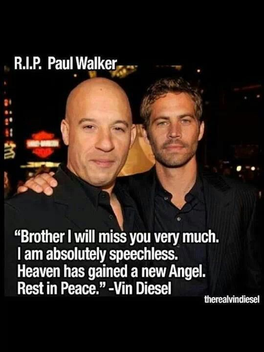 Vin Diesel Speaks Out Paul Walker Pictures After Filming Fast And Furious 7 Find This Pin More On In Loving Memory
